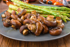 Vegetable combination plate of asparagus Stock Photography