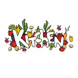 Vegetable composition. Kitchen. Illustration. Royalty Free Stock Photo