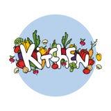 Vegetable composition. Kitchen. Illustration. Royalty Free Stock Images