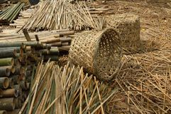 Vegetable Basketry. Vegetable container basketry - used to carry vegetable for transportation by lorry stock photos
