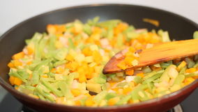 Vegetable cooking background stock footage