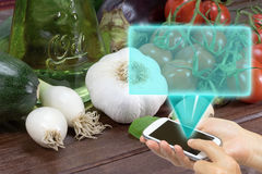 Vegetable cooking concept (without pasta) Stock Image