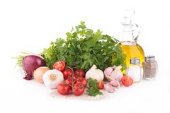 Vegetable and cooking oil Stock Images
