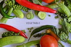 Vegetable in cooking. Set topview royalty free stock photography