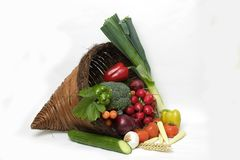 Vegetable Cornucopia1 Royalty Free Stock Photos