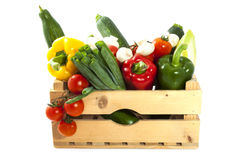 Vegetable crate Stock Photo