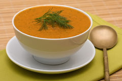 Vegetable cream soup Royalty Free Stock Photo