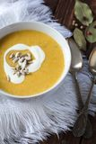 Vegetable cream soup. In bowl Stock Images