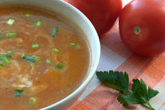 Vegetable cream soup Royalty Free Stock Photography