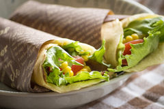 Vegetable crepe Royalty Free Stock Photography