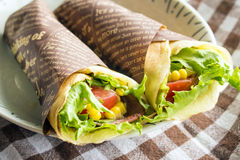Vegetable crepe Royalty Free Stock Photos