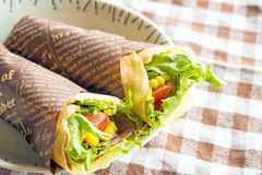 Vegetable crepe Royalty Free Stock Images