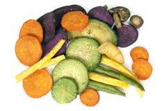 Vegetable Crisps Healthy Snack Stock Photos