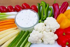 Vegetable Crudites and Dip Stock Photo