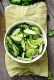 Vegetable cucumber salad Stock Photos