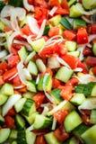 Vegetable Cucumber Sald Mixture Royalty Free Stock Photos