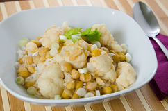 Vegetable curry with cauliflower and chickpeas Royalty Free Stock Image