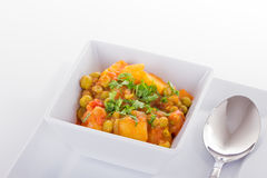 Vegetable Curry. With Peas and Potatoes royalty free stock photography