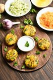 Vegetable cutlet from carrot, zucchini, potato Stock Images