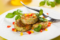 Vegetable cutlet Stock Photography