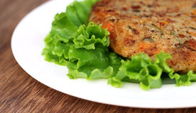 Vegetable cutlet Royalty Free Stock Images