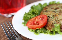 Vegetable cutlet Stock Photo