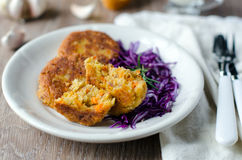 Vegetable cutlets of chick peas Royalty Free Stock Photography