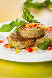 Vegetable cutlets Stock Photos