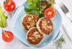 Vegetable cutlets from zucchini stock photo