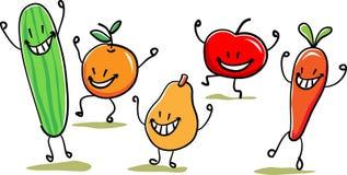 Vegetable dancers. Funny cartoon image Stock Image