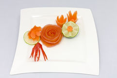 Vegetable decoration Royalty Free Stock Photography