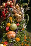 Vegetable decoration Royalty Free Stock Image