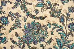 Vegetable decorative pattern in Indian style Royalty Free Stock Photography