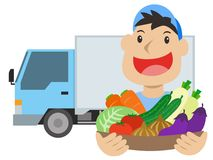 Vegetable delivery man Royalty Free Stock Images