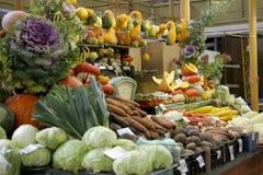 Vegetable desk. Vegetable market in Riga. autumn harvest Stock Photos