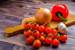 Vegetable on desk. Vegetable still life on wood table Stock Photos