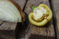 Vegetable on the desk of wood Stock Photo