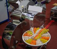 Vegetable Dicing Machine. Fruit vegetable dicing machine for food industry royalty free stock photo