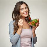 Vegetable diet with green salad. Royalty Free Stock Photos
