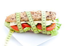 Vegetable diet sandwich Royalty Free Stock Photos