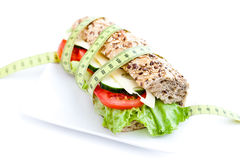 Vegetable diet sandwich Stock Photo