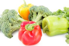 Vegetable diet set Stock Images