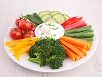Vegetable and dip Royalty Free Stock Photography