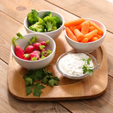 Vegetable and dip Royalty Free Stock Images