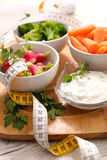 Vegetable and dip Stock Photography