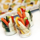 Vegetable dip or tapas. Square - close up Royalty Free Stock Image