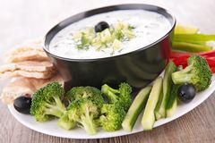 Vegetable and dip Royalty Free Stock Photo