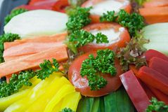 Vegetable dish close up. Royalty Free Stock Photography