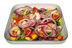 Vegetable Dish with Peppers and Onions Isolated stock images