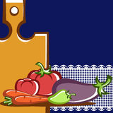 Vegetable dishes. Preparation of vegetable dishes in the vector Stock Photo
